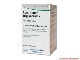 Тест-полоски Аккутренд Триглицериды (Accutrend Triglycerides)