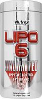 Жиросжигатель Lipo 6 Unlimited ,120 liquid caps.