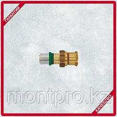 Пресс-соединение с муфтой, разъемное, с плоской прокладкой и внутренней резьбой