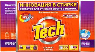 """LG Tech Средство для стирки в форме салфеток """"Нежный цветочный аромат"""" / 20 шт."""