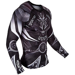 Рашгард Venum Gladiator 3.0 black white long sleeve