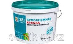 Краска для стен и потолков белоснежная акриловая p-28 -24 кг