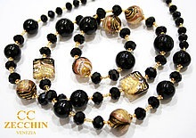 Ожерелье из муранского стекла, ручная работа, Италия