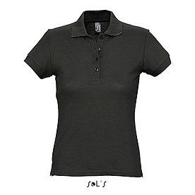 Рубашка Поло женская Sols Passion XL, Черная