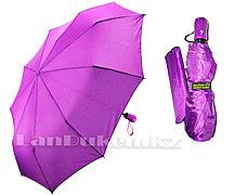Зонт полуавтомат складной в чехле Dolphin с системой антиветер фиолетовый (с блестящим эффектом)