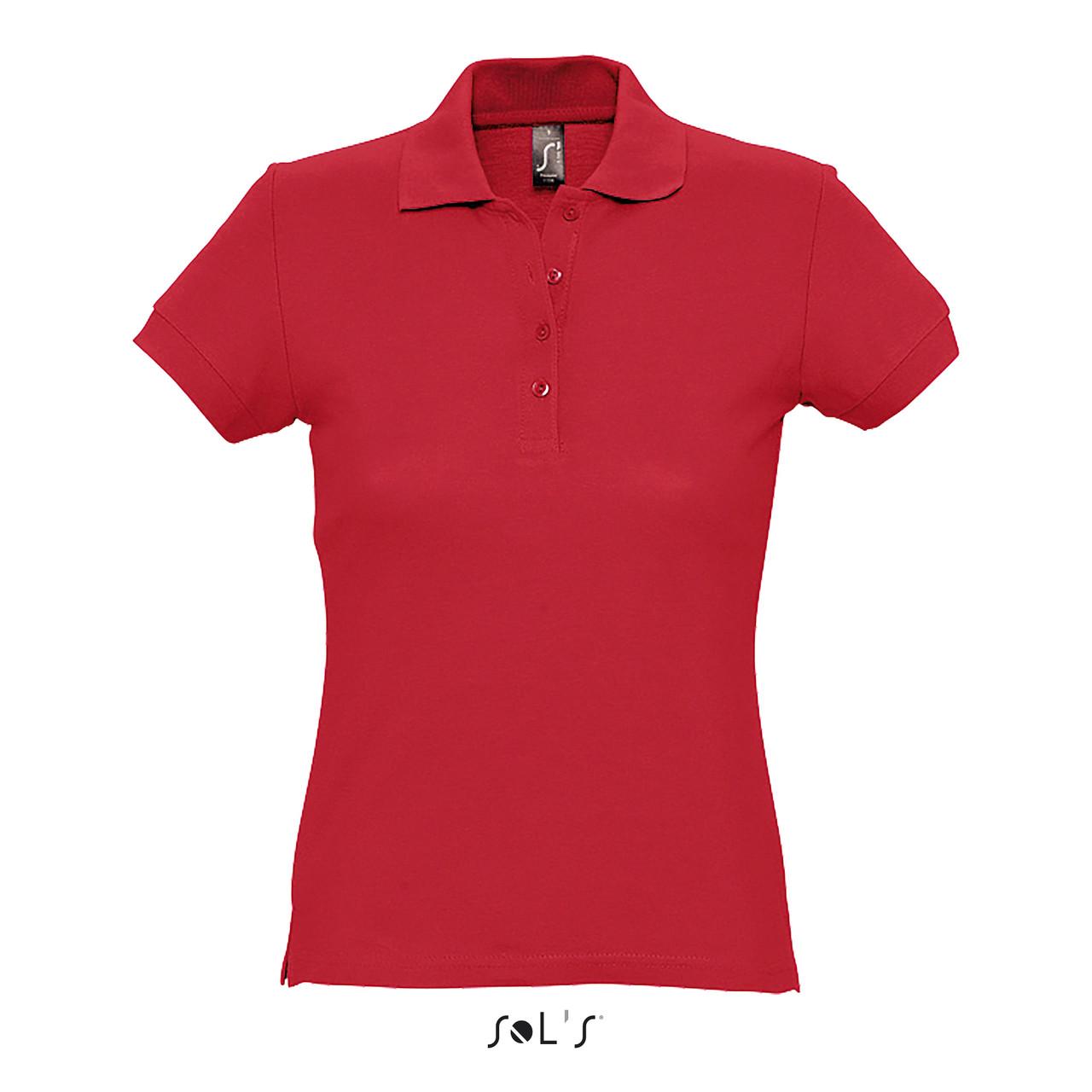 Рубашка Поло женская Sols Passion XL, Красная