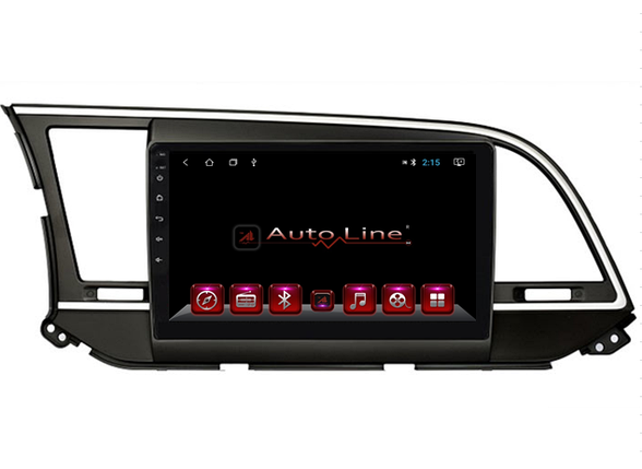 Автомагнитола AutoLine Hyundai Elantra 2017-2018 4-ядерный (QUAD CORE), фото 2