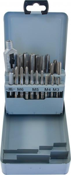 Набор метчиков T-COMBO трехпроходных ручных универсальных М3-М12, HSS-G, 22 предмета MTS22
