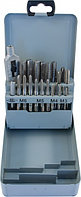 Набор метчиков T-COMBO трехпроходных ручных универсальных М3-М12, HSS-G, 22 предмета MTS22, фото 1