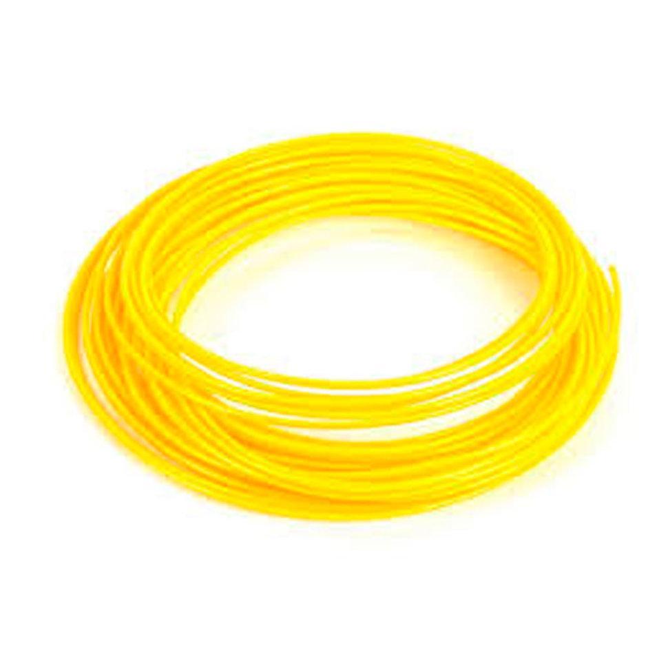 Пластик для 3D принтеров PLA, SunLu, светящийся, желтый 1 метр