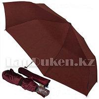 Зонт полуавтомат складной в чехле Dolphin с системой антиветер цвета бордо (с блестящим эффектом)