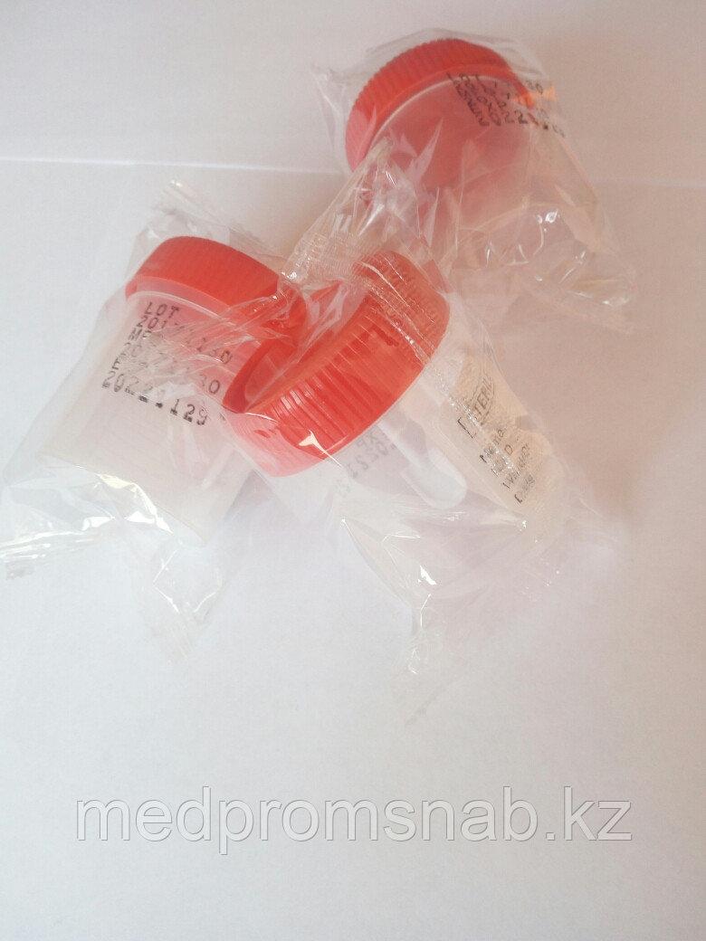 Контейнер для сбора экскрементов, 60 мл,стерильный