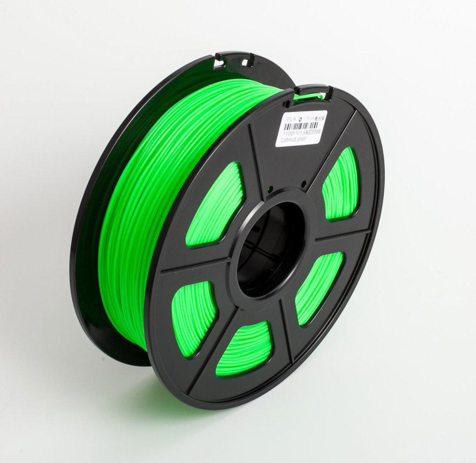 Пластик для 3D принтеров гибкий, SunLu, прозрачно-зеленый