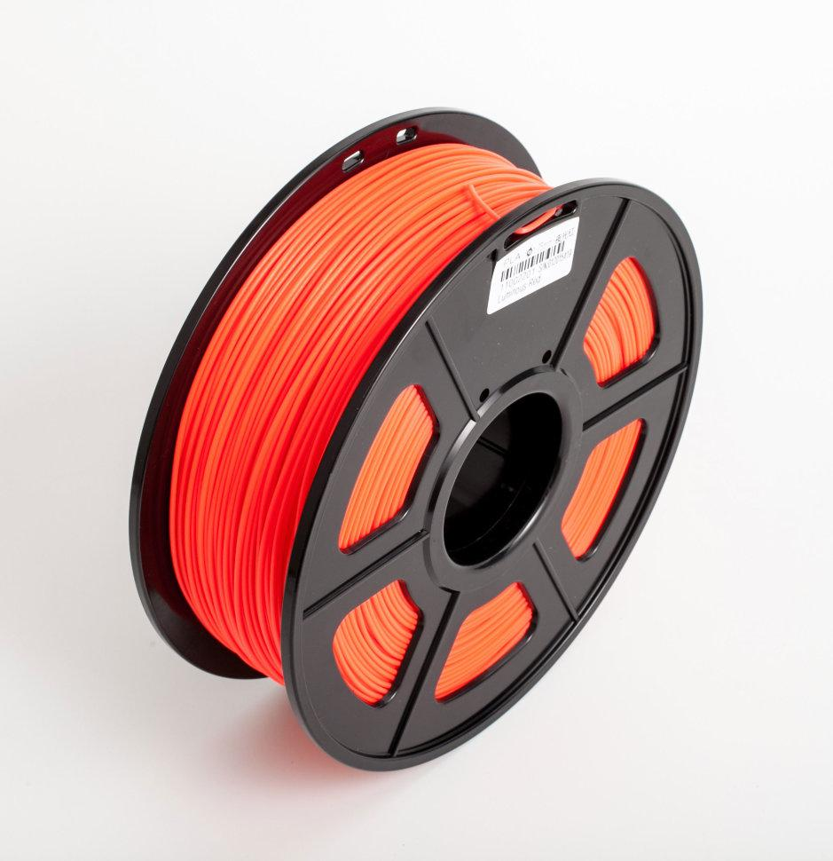 Пластик для 3D принтеров гибкий, SunLu, прозрачно-красный