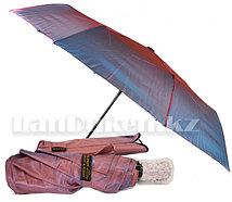 Зонт полуавтомат складной в чехле Dolphin с системой антиветер темно розовый перламутр (с блестящим эффектом)