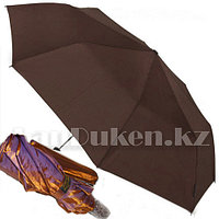 Зонт полуавтомат складной в чехле Dolphin с системой антиветер сиреневый перламутр (с блестящим эффектом)