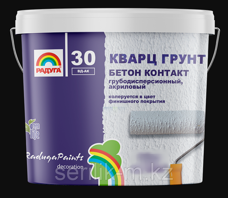 КВАРЦ ГРУНТ БЕТОН КОНТАКТ РАДУГА 30 АКРИЛОВЫЙ 7КГ