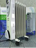 Масляный радиатор Oasis US-15, 1,5кВт, 7-секций