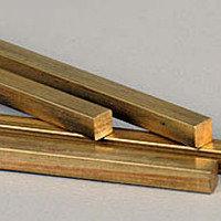 Квадрат бронзовый 25x25 марка БрАЖ9-4