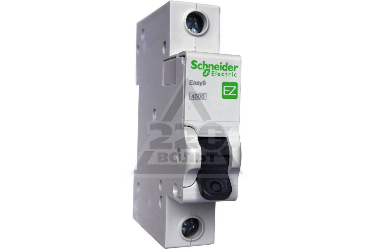 Выключатель автоматический Schneider Electric EASY9 BA 1П 10А C 4.5 кА 1DIN 1полюс 82*18мм