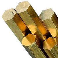 Шестигранник бронзовый 7.5 мм марка БрАЖ9-4