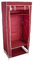 Шкаф-кофр для одежды EASYCARE на молнии складной тканевый (Бордовый), фото 3