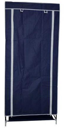Шкаф-кофр для одежды EASYCARE на молнии складной тканевый (Синий), фото 2