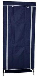 Шкаф-кофр для одежды EASYCARE на молнии складной тканевый (Синий)