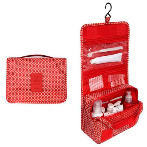 Органайзер-косметичка путешествинника TRAVEL с вешалкой (Красный) - фото 1