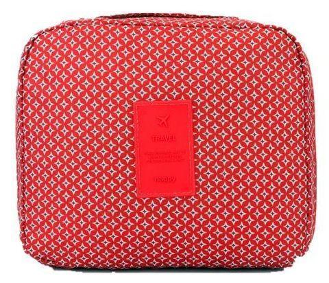 Органайзер-косметичка путешествинника TRAVEL с вешалкой (Красный) - фото 3