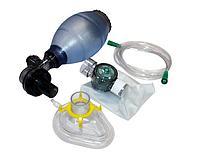 Мешок дыхательный из ПВХ типа Амбу с одной маской, одноразовый для новорожденных