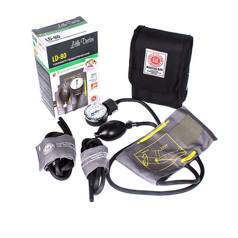 Тонометр LD-80Сингапур комбинированный без стетоскопа + 3 детские манжеты с поверкой - фото 1