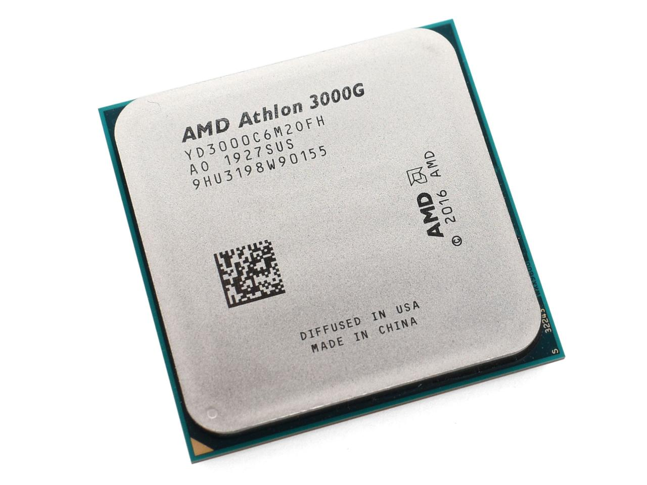 Процессор AMD Athlon 3000G, 3.5Gh(Max), AM4, 2C/4T, L2 1MB, L3 4MB, Radeon Vega 3 Graphics, 35W