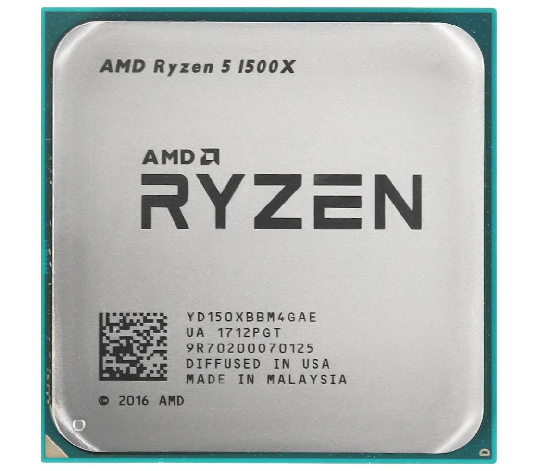 Процессор  Ryzen 5 1500X 3,5Гц (3,7ГГц Turbo)