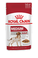 Влажный корм для собак средних пород Royal Canin Medium Adult кусочки в соусе, фото 1