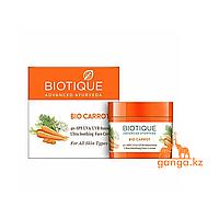 Солнцезащитный крем для лица Био Морковь (40 SPF Sunscreen Bio Carrot BIOTIQUE), 50 г.