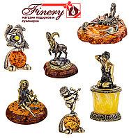 Знаки зодиака. Сувениры ручной работы из янтаря и латуни.