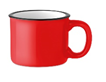 Кружка керамическая в винтажном стиле, выглядит как металлическая кружка для похода. Объем 240 мл. (Красный)