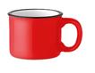 Кружка керамическая в винтажном стиле, выглядит как металлическая кружка для похода. Объем 240 мл. (Красный), фото 2