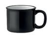 Кружка керамическая в винтажном стиле, выглядит как металлическая кружка для похода. Объем 240 мл Цвет черный, фото 2