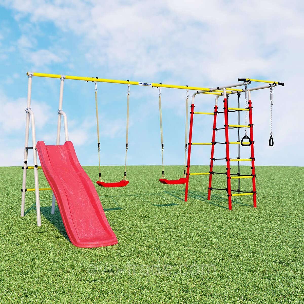 Детский спортивный комплекс Богатырь Плюс ROMANA (Качели пластиковые)