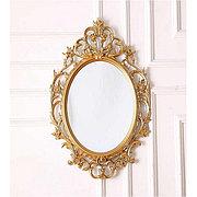 Овальное зеркало настенное 61х87,5 см цвет золотистый, CLK879