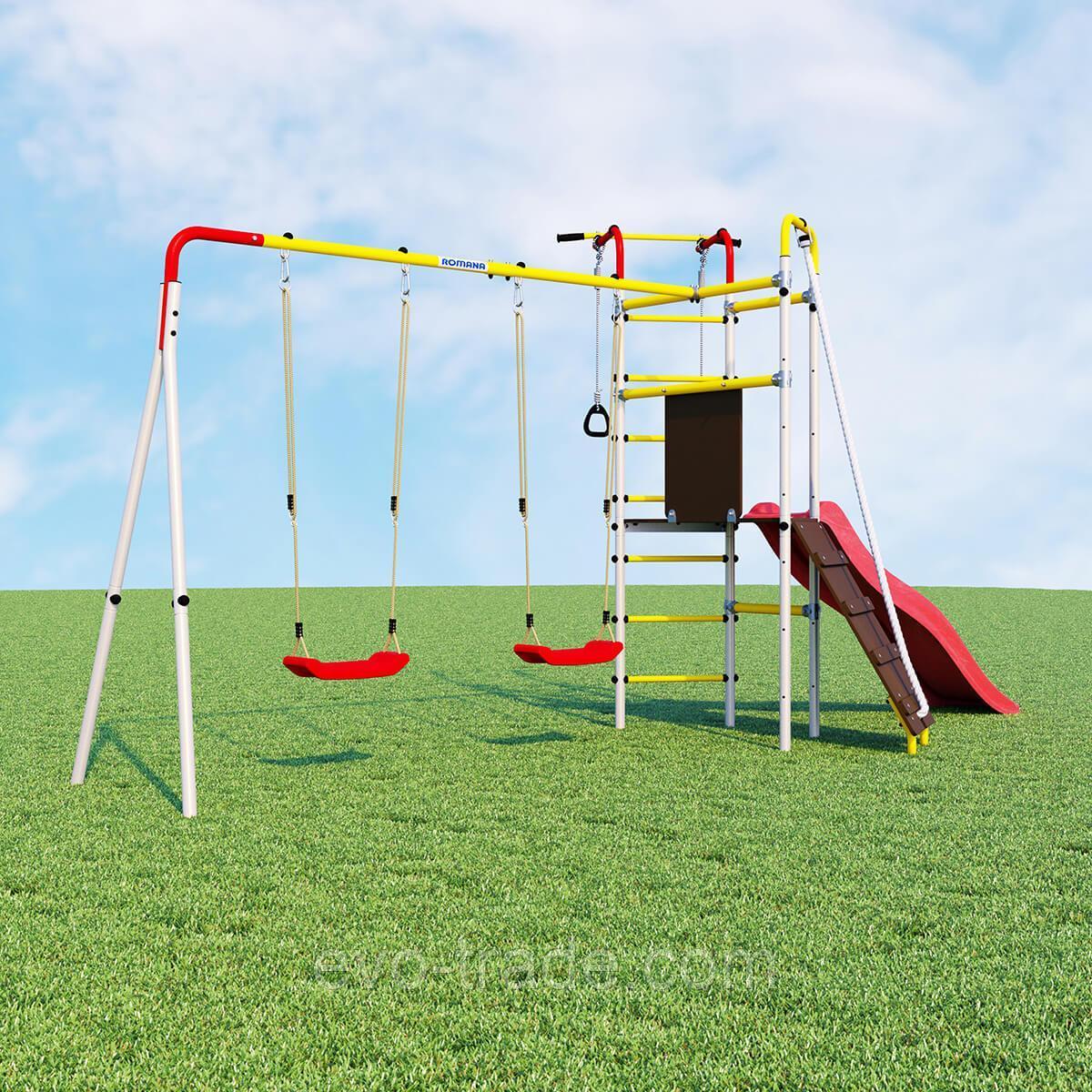 Детский спортивный комплекс Островок Плюс ROMANA (Качели пластиковые)