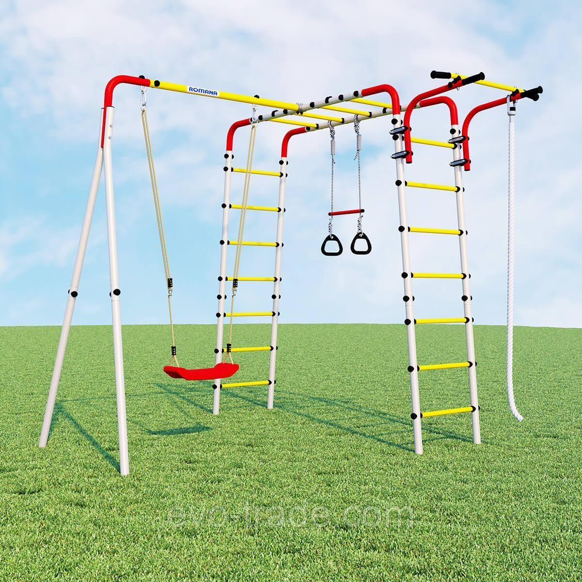 Детский спортивный комплекс Веселая лужайка - 2 ROMANA  (Качели пластиковые)
