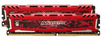 Оперативная память Crucial Ballistix Sport LT Red BLS2K16G4D32AESE, 32GB (2x16Gb KIT)/ DDR4/ PC4-25600
