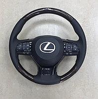 Руль темное дерево на Lexus LX570 2008-15✔️дизайн 20 года, фото 1