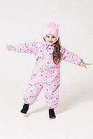 Crockid. Комбинезон ярко-розовый, зебры. Размер 62-68