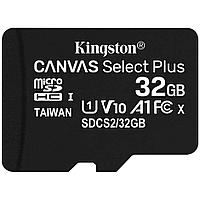 Карта памяти Kingston 32GB microSDHC Canvas Select Plus 100R A1 C10 Single Pack w/o Adapter, SDCS2/32GBSP
