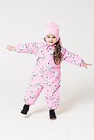 Crockid. Комбинезон ярко-розовый, зебры. Размер 68-74