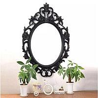 Овальное зеркало настенное 61х87,5 см цвет черный, CLK879